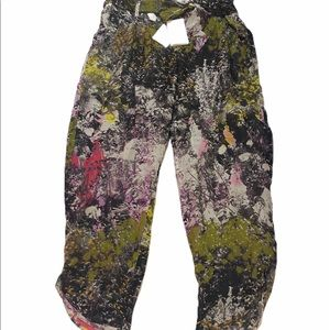 Leifsdottir Anthropologie Crop Pants Silk 8 New